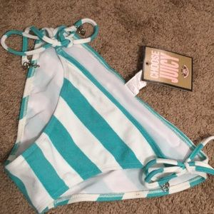 "New With Tags ""Juicy Couture"" Large Bikini Bottom"